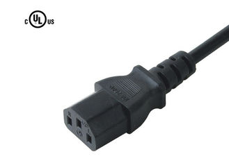 Black American Electric Cord , JT3 10A 125V Three Prong Laptop Power Cord