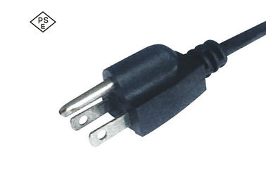 China 3 Conductor Grounded 3 Prong Computer Power Cord , Japan Power Cord PSE Approval supplier