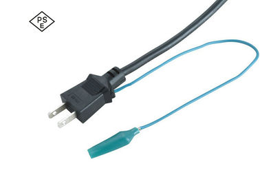 FH-3B International Power Cords Japan Power Cable With Grounding Wire Fish Clip