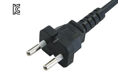 Round Plug Korea Power Cord , 10A 250V 2 Prong Dryer Cord 0.5 / 0.75 Mm²