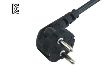 Y003-K Plug Type Korean Power Cable , Ktl / Kc Listed International Power Cords