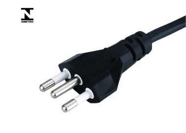 Brazil Inmetro Power Cord international Power Cables For Laptop 3 Pin Plug
