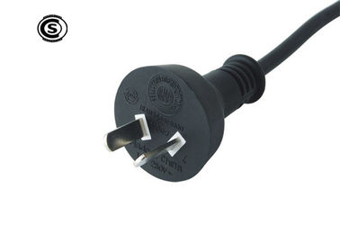 10A 250V 2 Flat Pin PC Monitor Power Cable , IRAM 2063 Argentina Power Cord