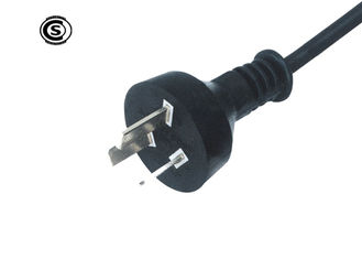 IRAM Argentina 3 Pin TV Power Cable , AC Line Cord  With PVC / Rubber Jacket