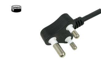 Reliable International Power Cords South Africa Area SABS Approved OEM / ODM