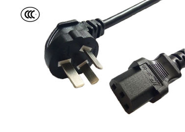 Female Ends China Power Cable , 3 Prong Computer Power Cord RoHS Compliant