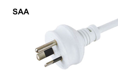 Lightweight Australia Power Cord With Round Earth Pin Customized Color