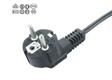 China Three Pin European Power Cord For Electric Skillet 16A 250V Plug H05VV-F supplier