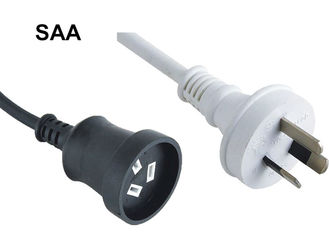 Australia Waterproof Appliance Electrical Cord , 3 Prong Printer Power Cord SAA Approval