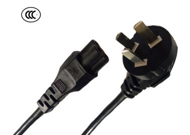Electric Power Extension Cord For Water Heater 3 Prong 10A Plug To IEC C5 2.5A Ends