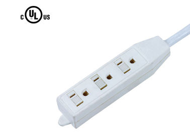 Household 3 Outlet Power Strip With On Off Switch , Electrical Power Bar UL Listed