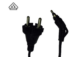 Two Pin Swivel Flat Iron Hair Dryer Power Cord European VDE Standard