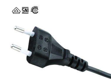 2.5A 250V  IEC C7 Power Cord , SNI Listed 2 Pin Tv Power Cable Two Conductor