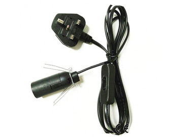 13A 250V Uk Power Lead , Salt Lamp Electrical Cord With Dimmer RoHS Compliant