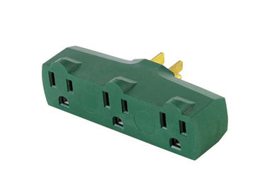 Ul Power Three Prong / Outlet Adapter , Wall Converter Grounding Adapter