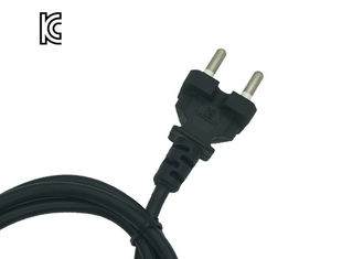 KC Approved Korea Power Cord Pvc / Rubber Jacket Oem With Two Round Pin