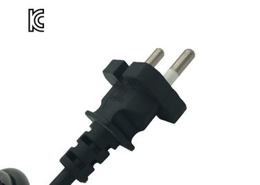 10A 250V Korea Power Cord KC KTL Approved 2 Pin Customized Color Length