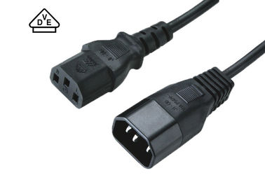 China Standard European Power Cable , 10A C13 C14 Power Cord For Electronics factory